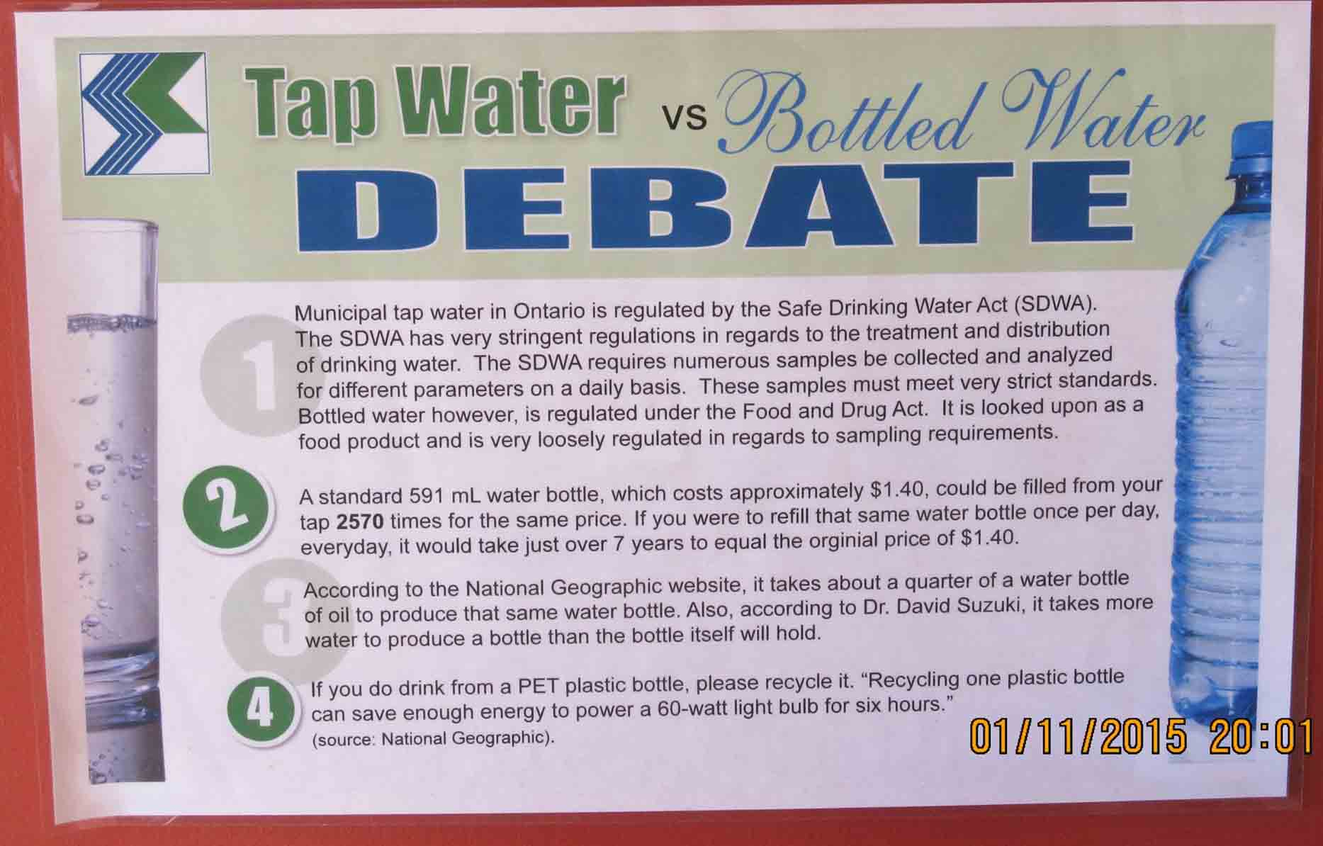 bottled water vs tap water Tap water vs bottled water, which is better learn more about the risks and concerns with drinking and conserving one of life's most precious resources.
